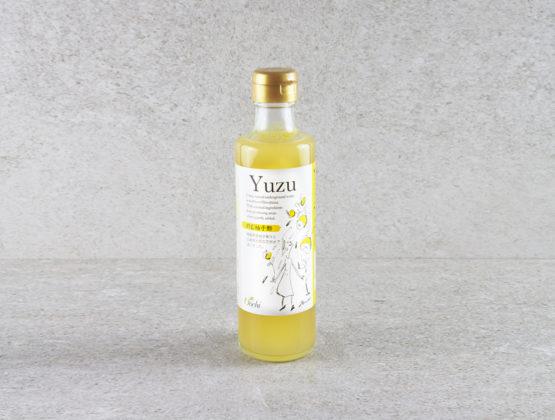 Bouteille de vinaigre au yuzu et au miel