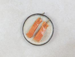 2 pavés de saumon fumé à la ficelle