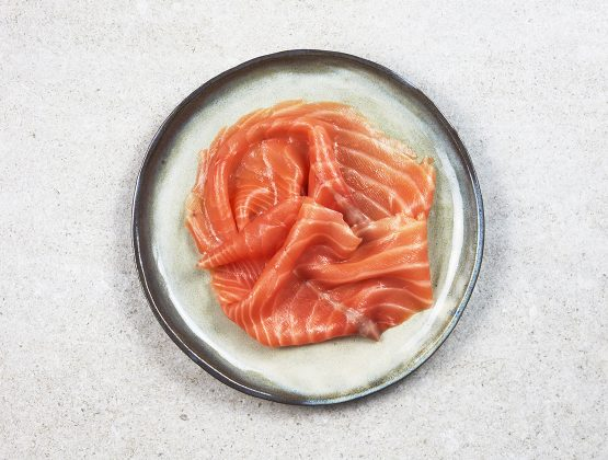 2/3 tranches de saumon fumé